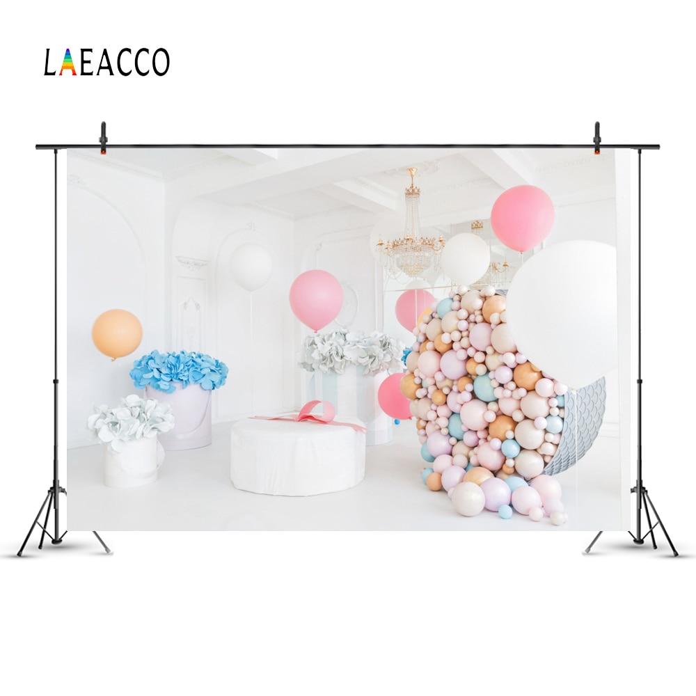Laeacco colorate baloane flori copil nou-născuți de fotografie - Camera și fotografia - Fotografie 4