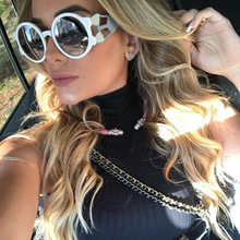 Retro Sunglasses Women 2019 Oversized Round Eye Sun Glasses Shades for 2018 Steampunk Style Vintage Design Cat Brand