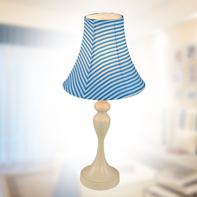 Retro Mediterranean Blue Desk Lamp Idyllic Minimalist Living Room Bedroom Bedside Study Table Lamps