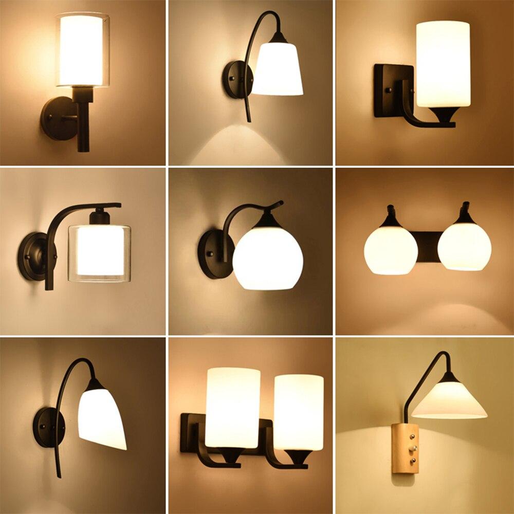 HGhomeart Cru De Lampe De Mur De Chevet Lampe de Lecture 110 V-220 V LED E27 Luminaria Chambre Éclairage Mural Contemporain Rétro lampe