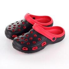 Hot Sale Comfortable Men Sandals Slides Rubber Slip on Casual Summer Beach Summer Shoes clogs Hole