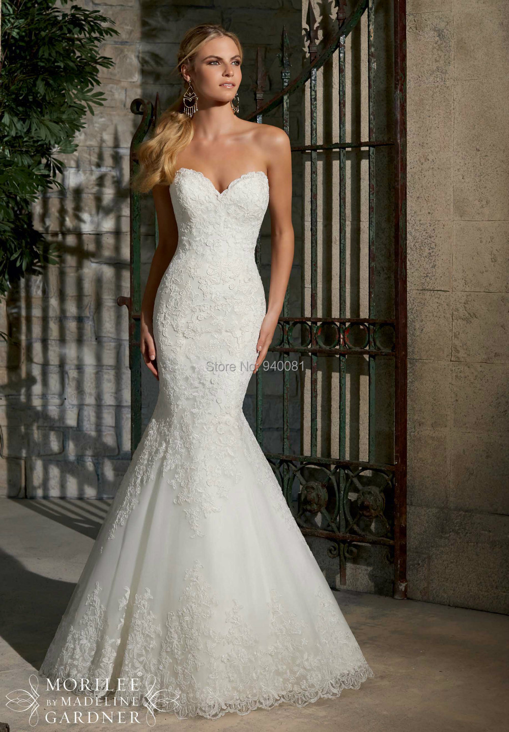 Fashionable Strapless Sweetheart Neckline Bohemian Style Wedding Dresses Boutique Tan Lace Dress Mermaid In From Weddings Events