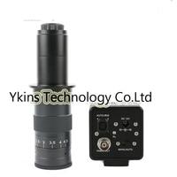 800TVL 1/3 CCD BNC Color Video Digital Industrial Microscope Camera Auto IRIS + 130X 180X 300X C Mount Lens For SMD BGA PCB