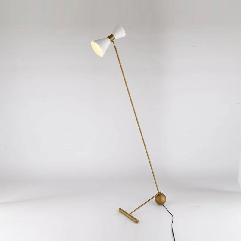 model living room floor lamp art living room bedroom decoration vertical floor lamps white black gold light za81226