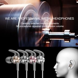 Image 2 - سماعة اذن düzke DQ1 ستيريو باس للهاتف رياضية داخل الاذن سماعات معدنية ايفي مع ميكروفون لاجهزة سامسونج شاومي