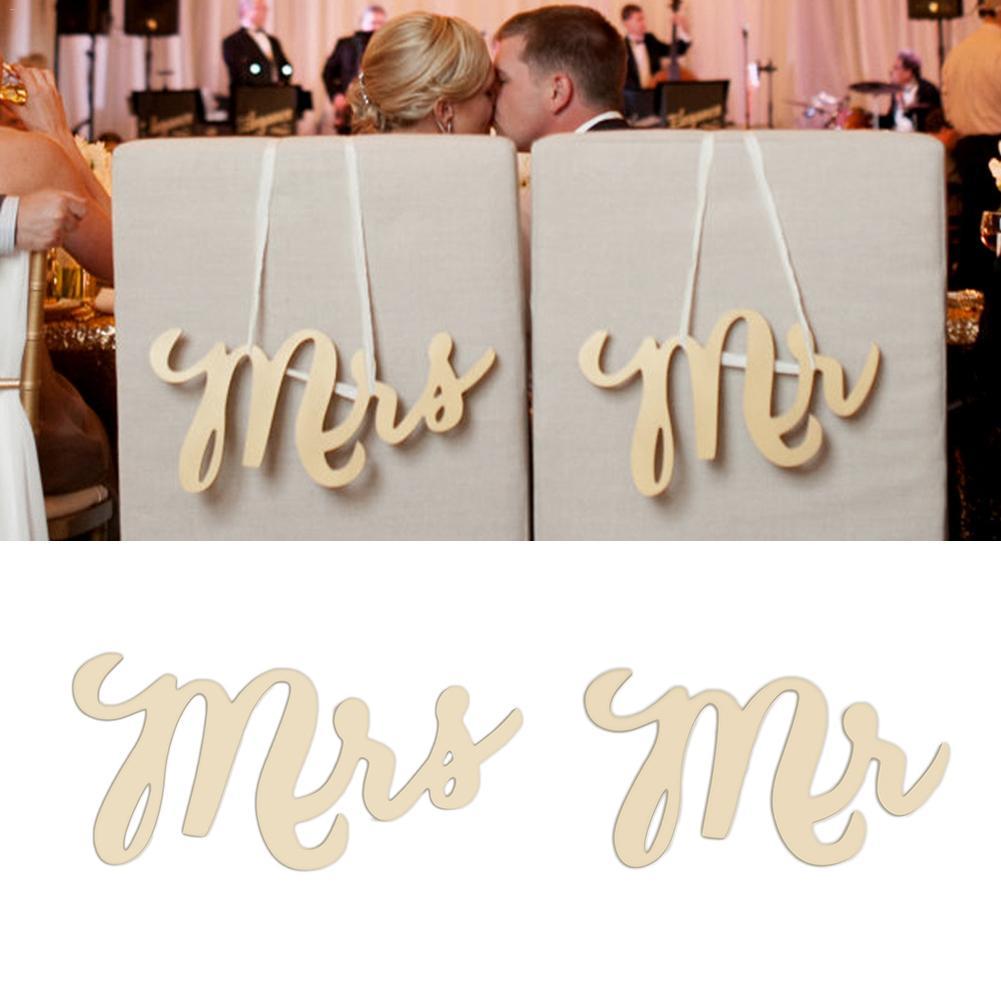 2 шт. Свадьба Рустик деревянный стул знак MR и MSR кресло знаки деревянные знаки реквизит для фотосессии Свадебные украшения