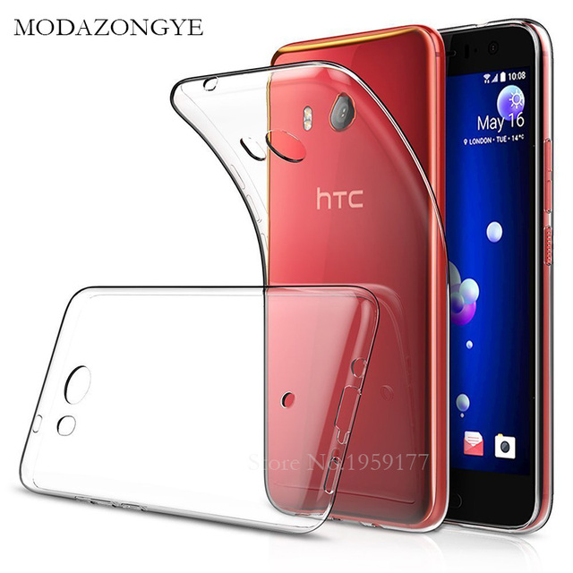 outlet store 1ad3f 8d1dc US $3.89 40% OFF|Original MODAZONGYE Soft Case For HTC U11 Case Cover  Silicone Back Cover Phone Case For HTC U11 U 11 5.5 inch-in Fitted Cases  from ...