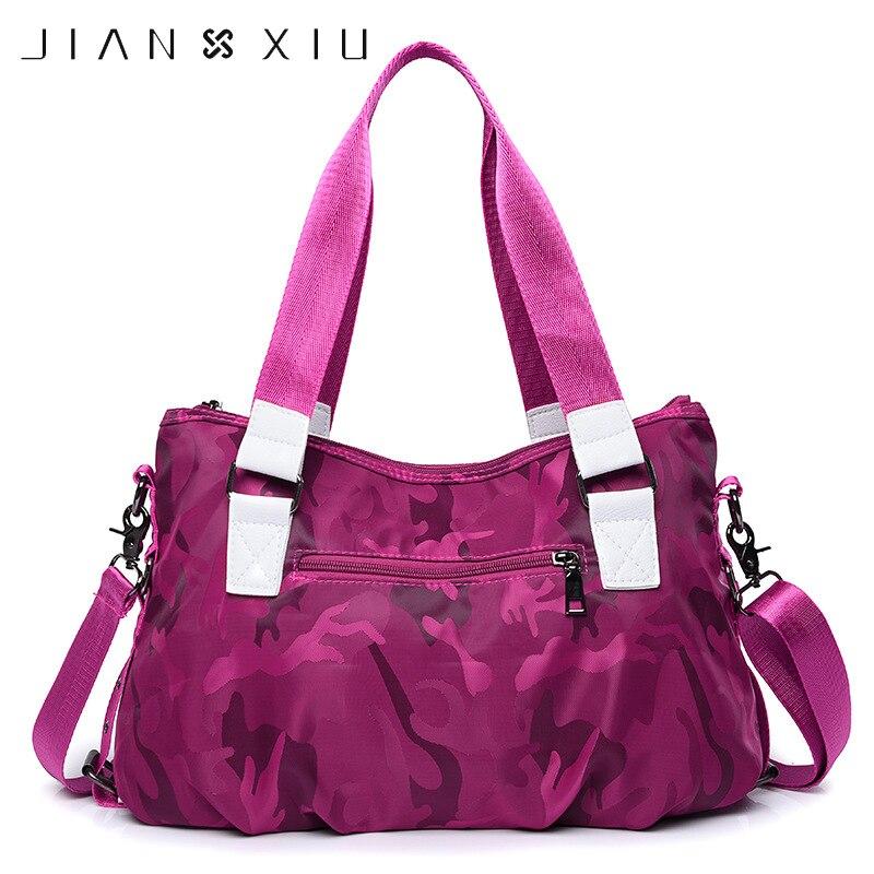 JIANXIU Women Portable Top Handle Bags Handbags Totes Day Clutches Luxury Designer Oxford Nylon Hand Bags Shoulder Messenger Bag