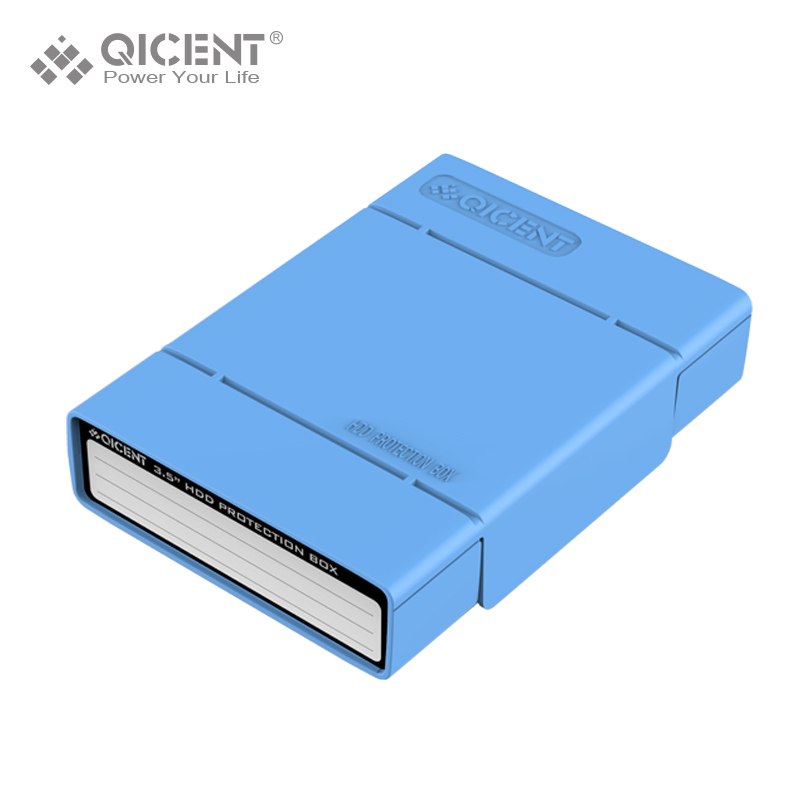 QICENT Portable External 3 5 inch Hard Disk Drive Protective Case HDD Storage Case Blue