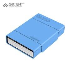 QICENT Portable Externe 3.5 pouce Disque Dur Étui de protection Cas De Stockage du DISQUE DUR-Bleu