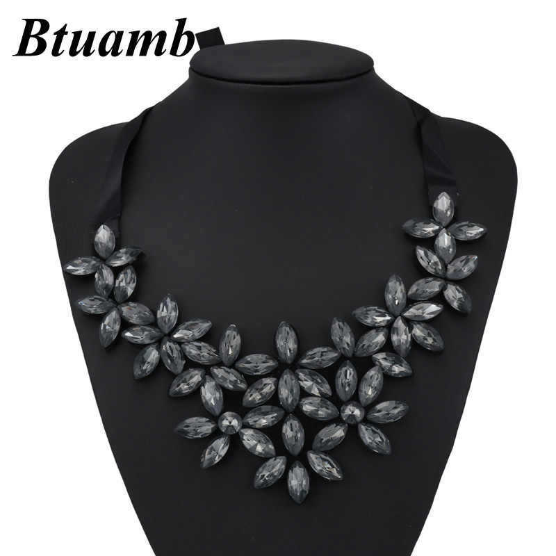 8d8258eeca83a5 Btuamb Collar Statement Necklaces Jewelry New Arrival Shining Rhinestone  Water Drop Flower Bib Bar Necklaces for