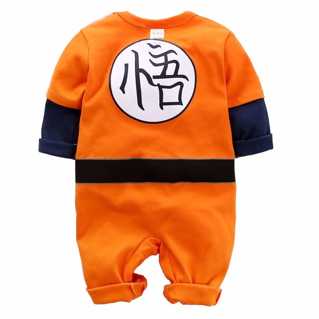 YiErYing Baby Clothing Baby rompers 100% Cotton Dragon Ball Sun Goku Long and Short Sleeve Baby Jumpsuits Baby Boy Girl Clothes 2