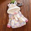 2016 New Vestido Infantil Winter Coat Girl Hooded Infant Baby Girls Cardigan Coat Cotton Toddler Children's Winter Jackets