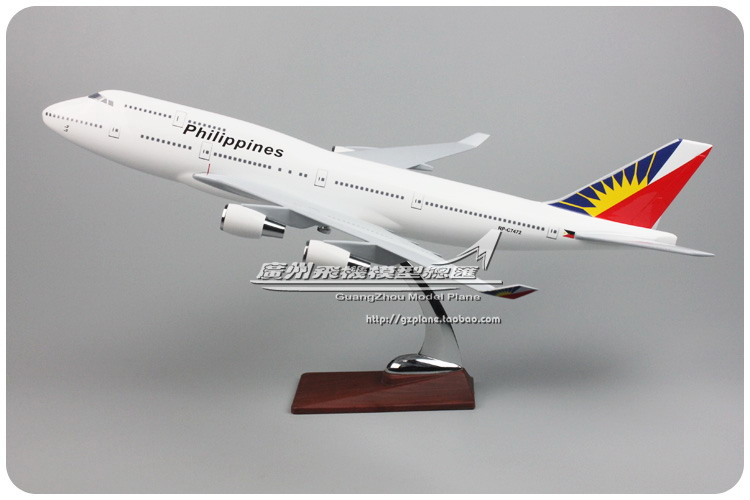 47cm Boeing 747 Philippines Airplane Model B747-400 Philippines Resin International Airways Airbus Aircraft Model Collection Toy 1 400 jinair 777 200er hogan korea kim aircraft model