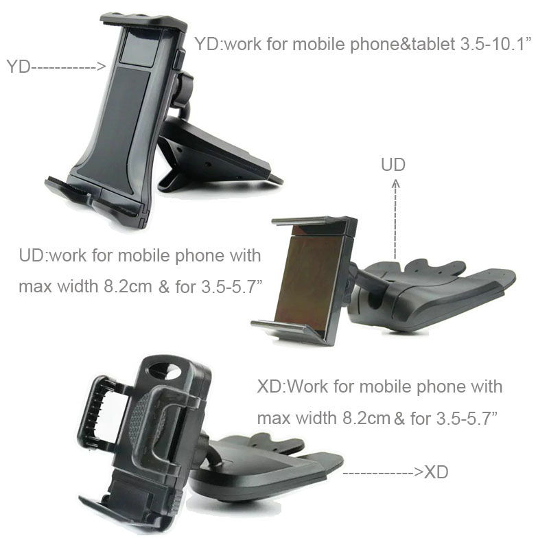 Mobile Phone Car CD Player Slot Holders Stands For Galaxy J7 Prime (2018)/S9/S9+/J5 (2017),ZTE Blade A3/V9/V9 Vita,Meizu M6s/E3