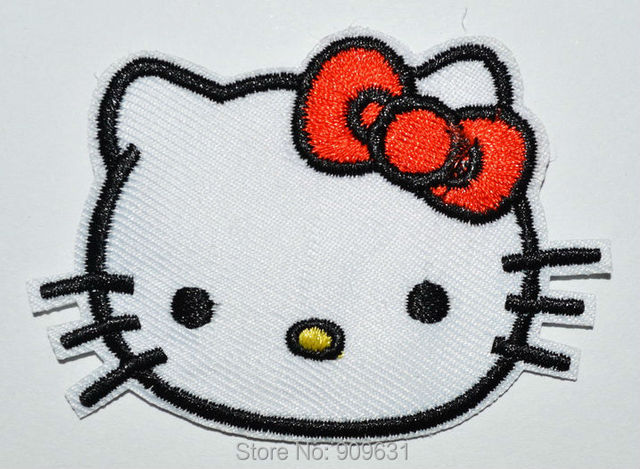 Wholesale hello kitty embroidered patch cloth paste applique badge