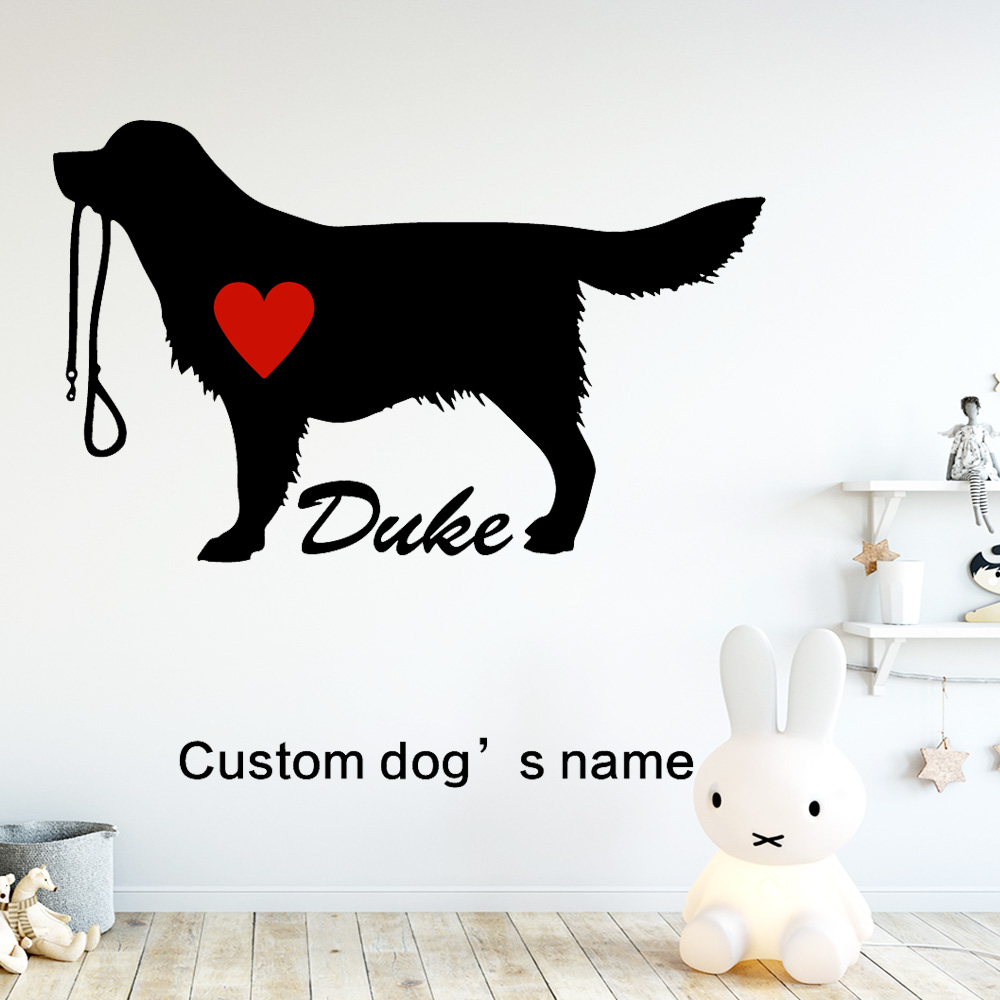 Cute Dog Duke Sticker Waterproof Vinyl Wallpaper Home Decor For Kids Rooms Diy Decoration Bed Room