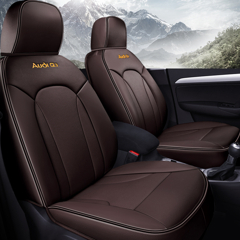 цена на Custom Luxury Auto Car Seat Covers Universal 5Seats( Front+Rear) car-styling for Audi Q3 car accessories