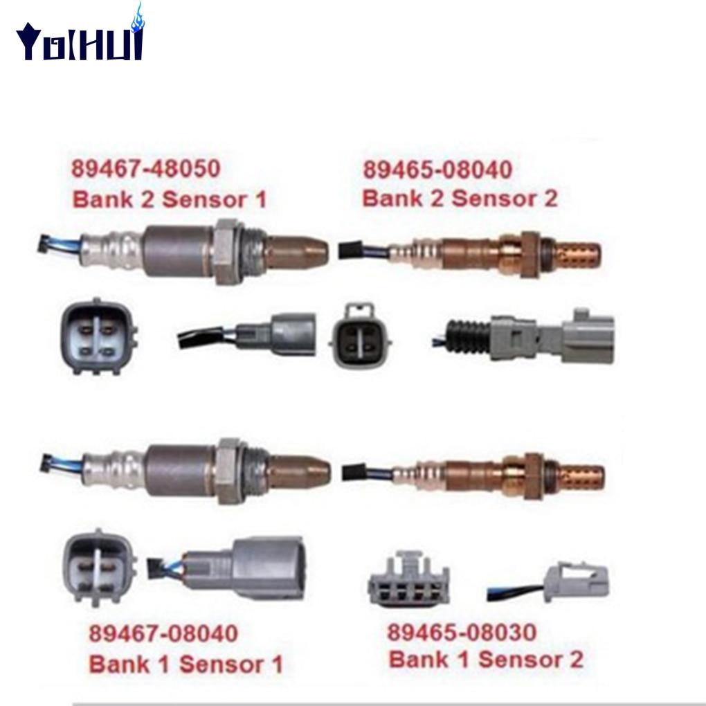 4PCS For Toyota Sienna Air Fuel Ratio Oxygen Sensor 89467 48050 89467 08040 89465 08040 08030