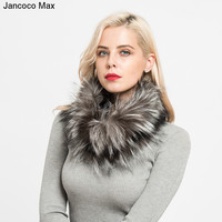 Jancoco Max 2017 New Real Fox Fur Scarves Winter Thick Warm Top Quality Shawl Natural Fur