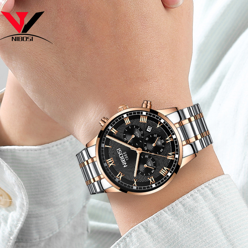 Image 4 - NIBOSI Mens Sport Watches Men Waterproof Luxury Brand Watch 2018 Fashion Full Steel Analog Quartz Wristwatch Relogio Masculino-in Quartz Watches from Watches