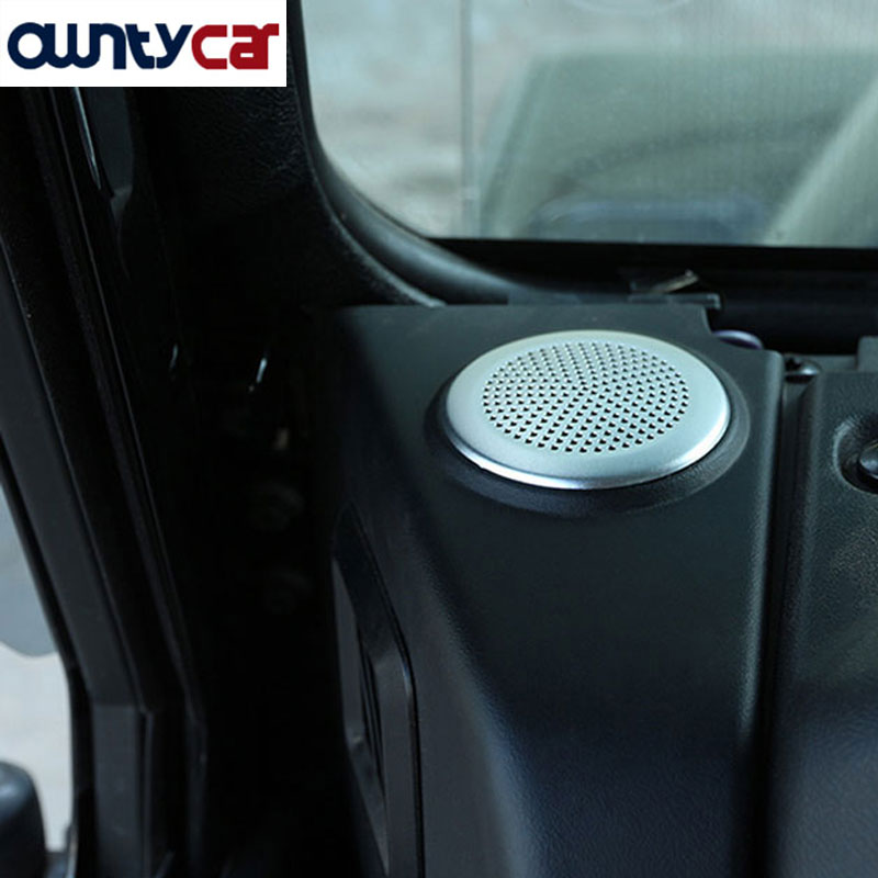 For Land Rover Defender 110 For Jaguar XE/XF Car-Styling Dashboard Circular Speaker Cover Trim Stickers Alloy Accessory