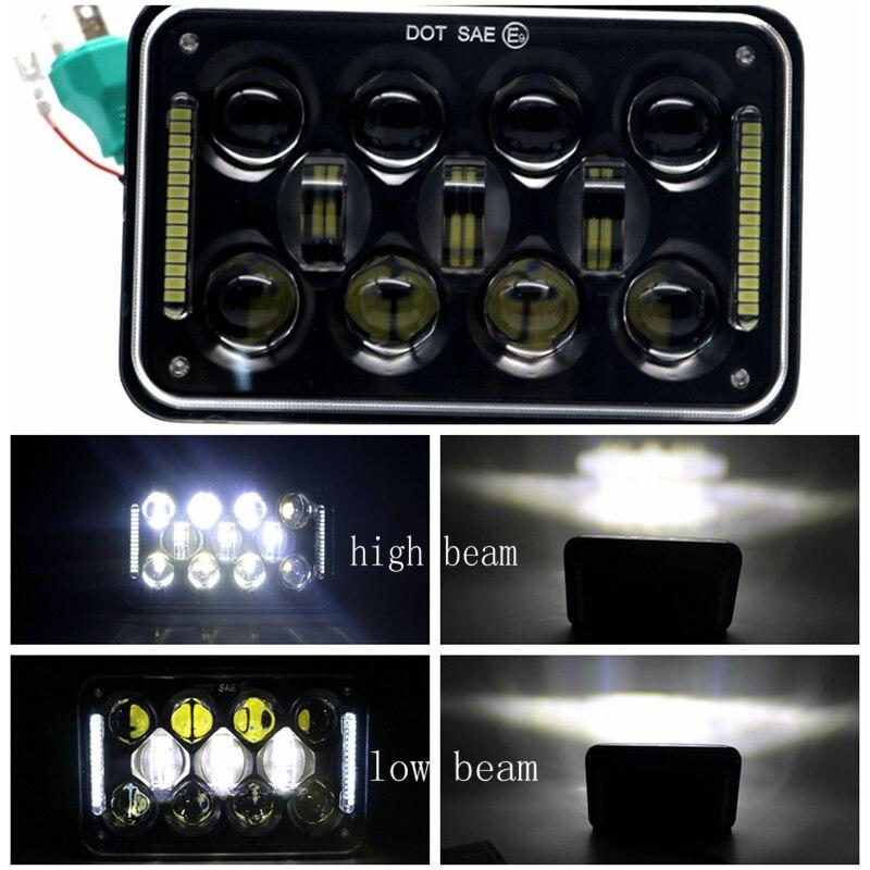 ДХО 4х6 дюйма прямоугольный проектор светодиодный фары с точки E9 для Большегруз Кенворт Т800 Т400 Т600 W900B/Л тележек