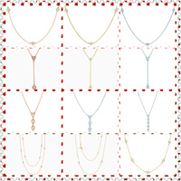 SHINETUNG 1:1 S925 Sterling Silver Genuine Golden Rose Gold Silver Clavicle Chain Trendy Necklace Women Fine High End Jewelry