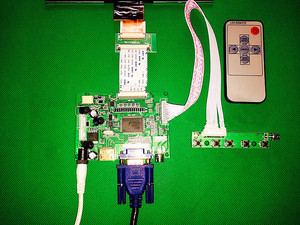 """Image 3 - HDMI/VGA/AV Control Driver Board + 8""""inch HE080IA 01D 1024*768 IPS high definition LCD Display For Raspberry Pi"""