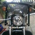 """Motocicleta Luz De Carretera Y luz de Cruce de La Bicicleta 5.75 """"Ronda Negro/Cromo Jefe Led Lámpara de luz Motocicleta Fittable para Harley Davidson"""