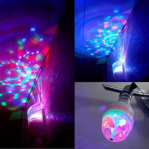 Image 3 - 6W 3W E27 RGB מנורת LED הנורה אור 220V 110V שלב הנורה Lampada דיסקו DJ המפלגה ריקוד חג המולד תאורה אוטומטי מסתובב