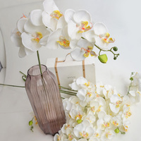 Europe style 10 pcs Noble taste artificial phalaenopsis silk decorative flower (S/M/L) size for wedding party room decoration