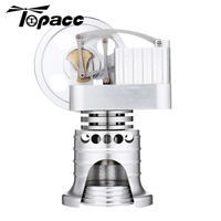 Full Metal Vertical Type Stirling Engine Model Gift Collection Children Science Learning Physics Educational Building Kits