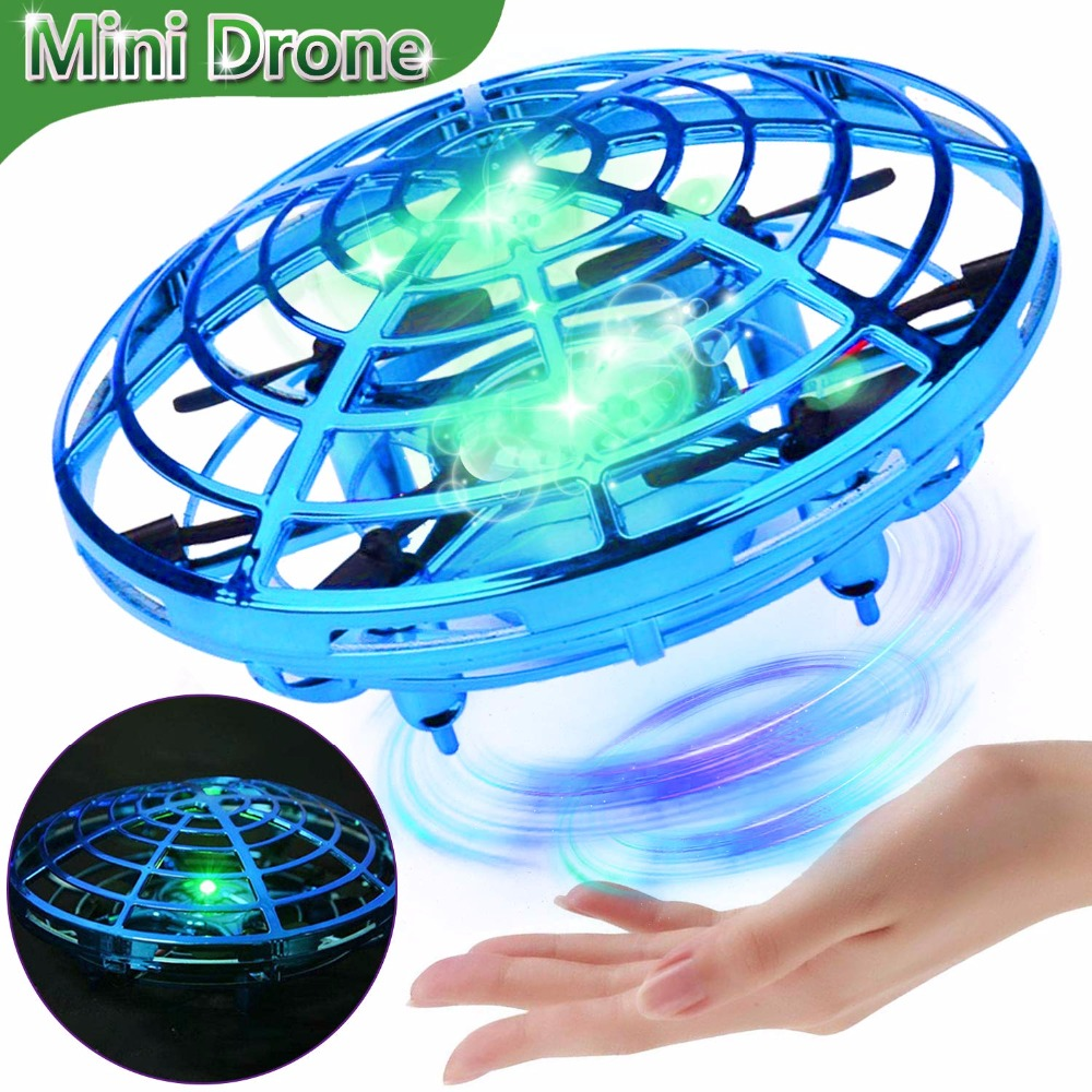 Mini Drone Hand Operated UFO Drones For Kids Induction Aircraft RC Helicopter Flying Ball Toys For Boys Girls