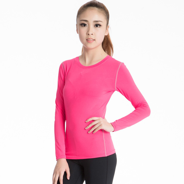 Women's PRO Compression Tops Under Base Layer Long Sleeve Shirts Ladies fitness Wear T-shirt bodybuilding Jerseys New arrival