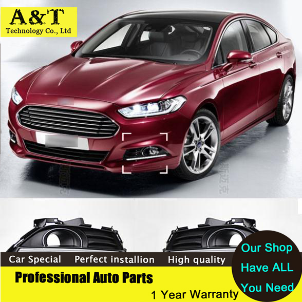 A&T car styling Guiding light Car styling LED DRL For Ford Mondeo Fusion 2013 2014 2015 led Daytime running lights led Fog light white ice blue led daytime running lights drl fog lamp cover with yellow turn light for ford fusion mondeo 2013 2014 2015 2016