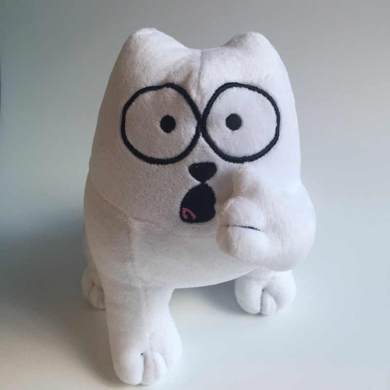 Aeruiy plush cartoon anime character white Simon cat toy doll,stuffed cats toy,creative graduation & birthday gift for child