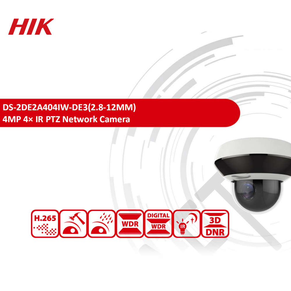 Image 2 - Hikvision Original PTZ IP Camera DS 2DE2A404IW DE3 4MP 4X zoom Network POE H.265 IK10 ROI WDR DNR Dome CCTV Camera-in Surveillance Cameras from Security & Protection