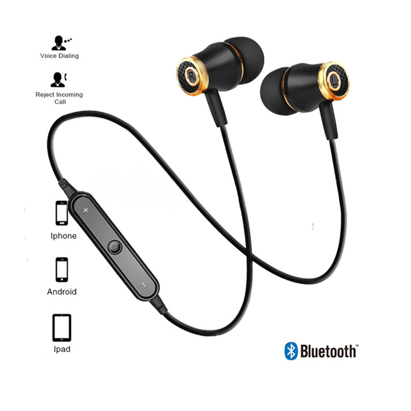 Sport Bluetooth Earphones Wireless Headphones Running earphone Stereo Super Bass Earbuds Sweatproof With Mic Headset mifo u6 bluetooth headphones wireless sport earphone noise cancelling running earbuds waterproof hifi stereo with mic for iphone