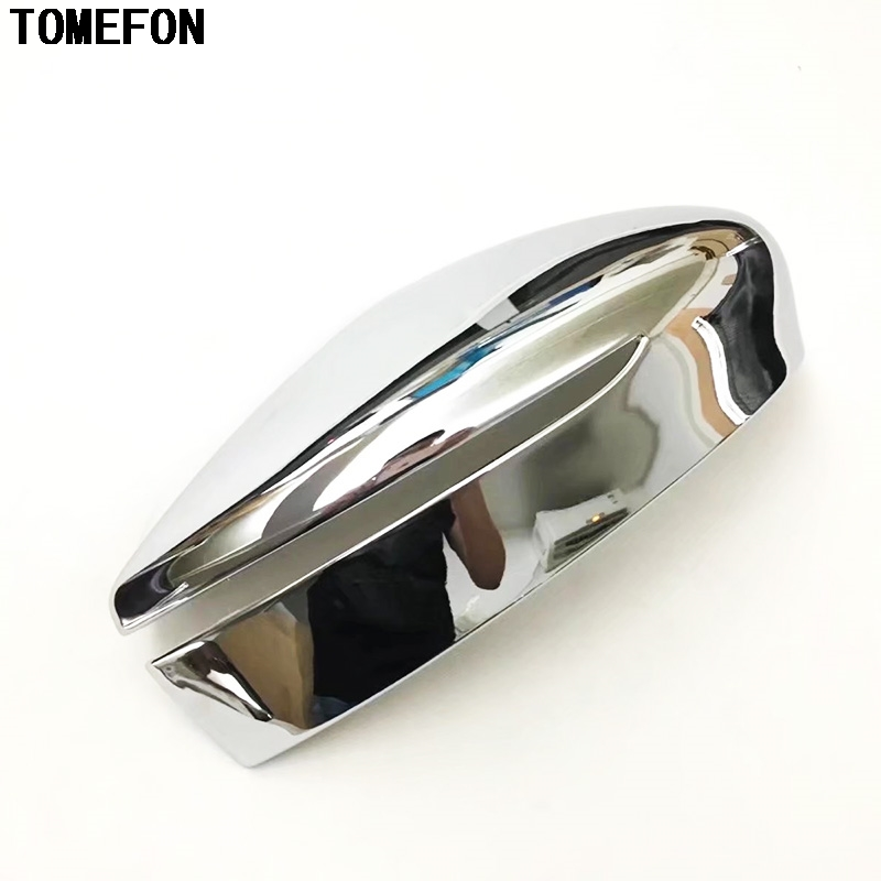 TOMEFON For Nissan Leaf 2017 2018 2019 ABS Chrome Side Door Turn Light Mirror Cover Rear View Trim Cap Overlay Molding Styling