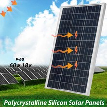 LEORY 75w 18v Solar Panel Polycrystalline Silicon Solar Power System Supply With Glass Bearing Plate Suitable For Car Battery