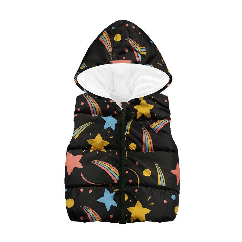 Fleece Children Waistcoat Hooded Baby Boys Coat Fashion Hoodies Boy Vest Tank Tops Kid Outfit Clothing Outwear Sleeveless Jacket 3