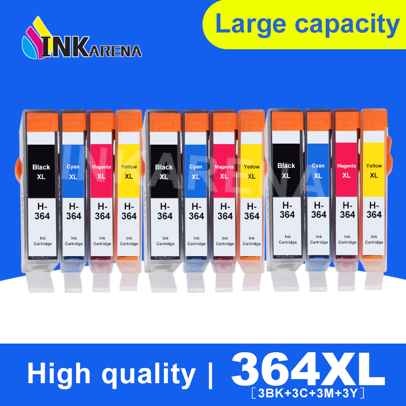 INKARENA <font><b>364</b></font> XL Replacement For HP364 Ink Cartridge For <font><b>HP</b></font> Photosmart 5510 5520 6510 6520 7510 7520 DeskJet 3070A 3520 Printer image