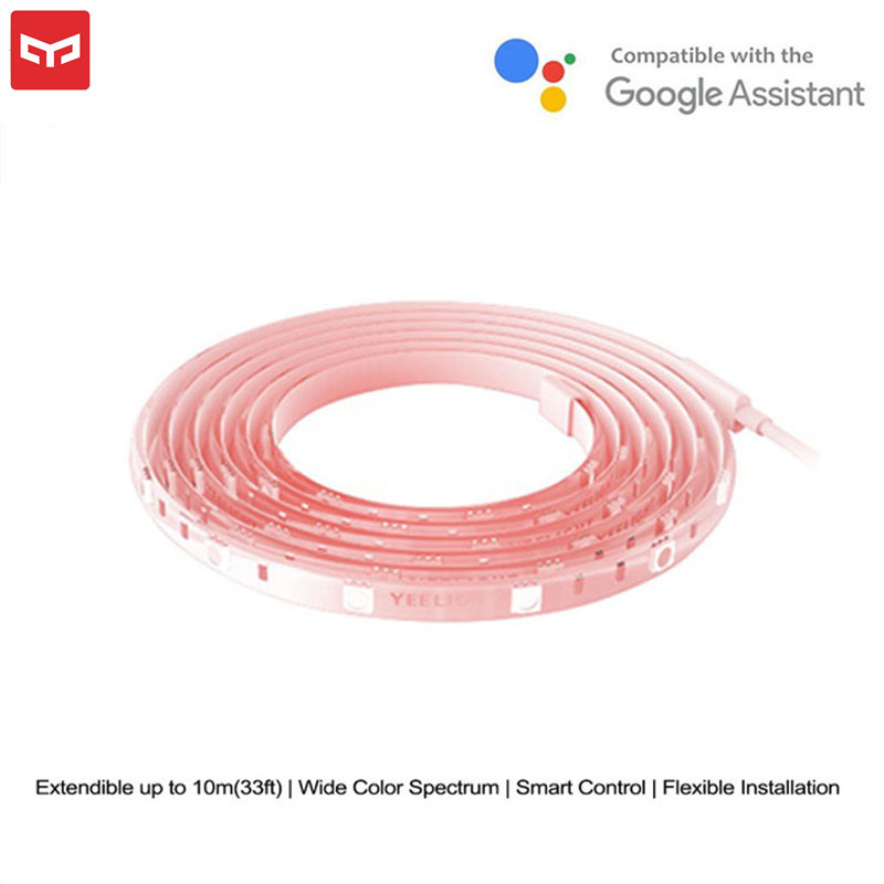 New Yeelight Smart LED 16 Million Color Light Strip Plus Extend Version RGB Strip Lights Band Wifi Mi Home APP AC 100-240V Party