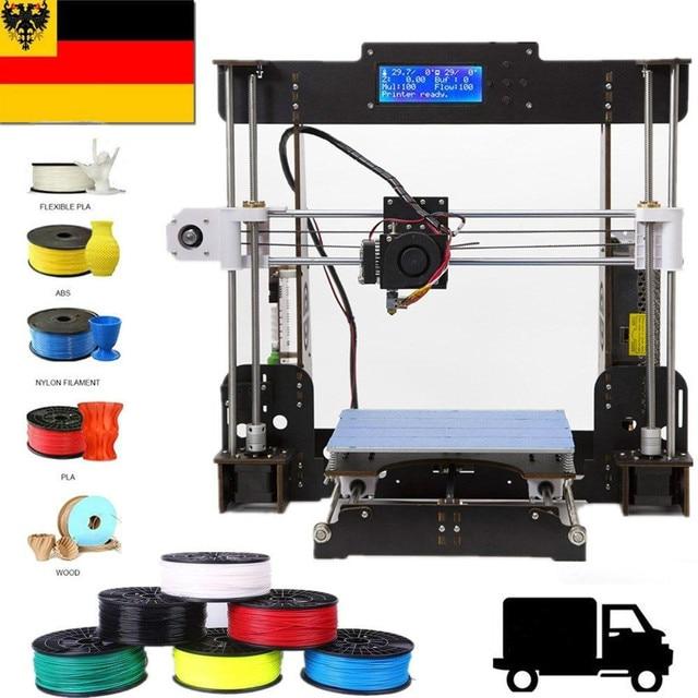 Drucker 3D A8 I3 Kit Prusa i3 Impressora de Bico 0.4 milímetros Liga de Alumínio Foco Normal 3D Pritner DIY Kit Filamento EUA Stock