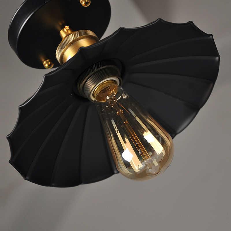 Лофт Эдисон Винтаж потолочного светильника Ретро Потолочные светильники для кухни простой проход светильник для прихожей металлические абажуры