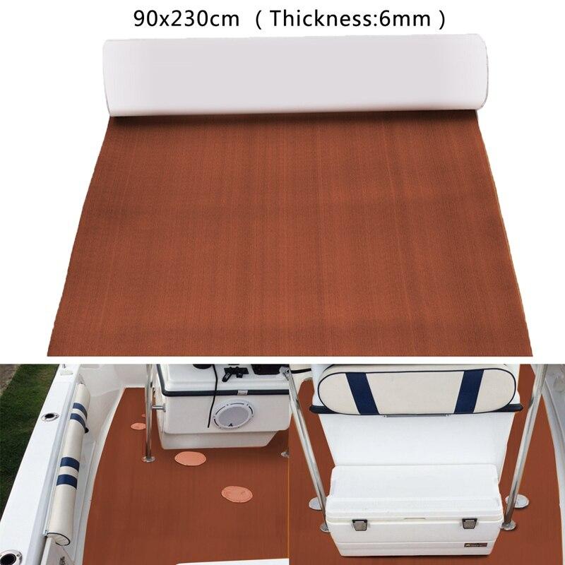 90x240x0.6cm Pure Dark Brown EVA Foam Teak Deck Sheet Self Adhesive Boat Yacht Synthetic Decking Foam <font><b>Floor</b></font> Mat
