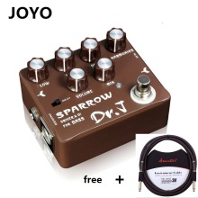 JOYO Dr.JD-53 Sparrow Overdrive DI Bass Electric Effect Pedal Aluminum Alloy Housing for Bass - Lightwish with Free 3m Cable