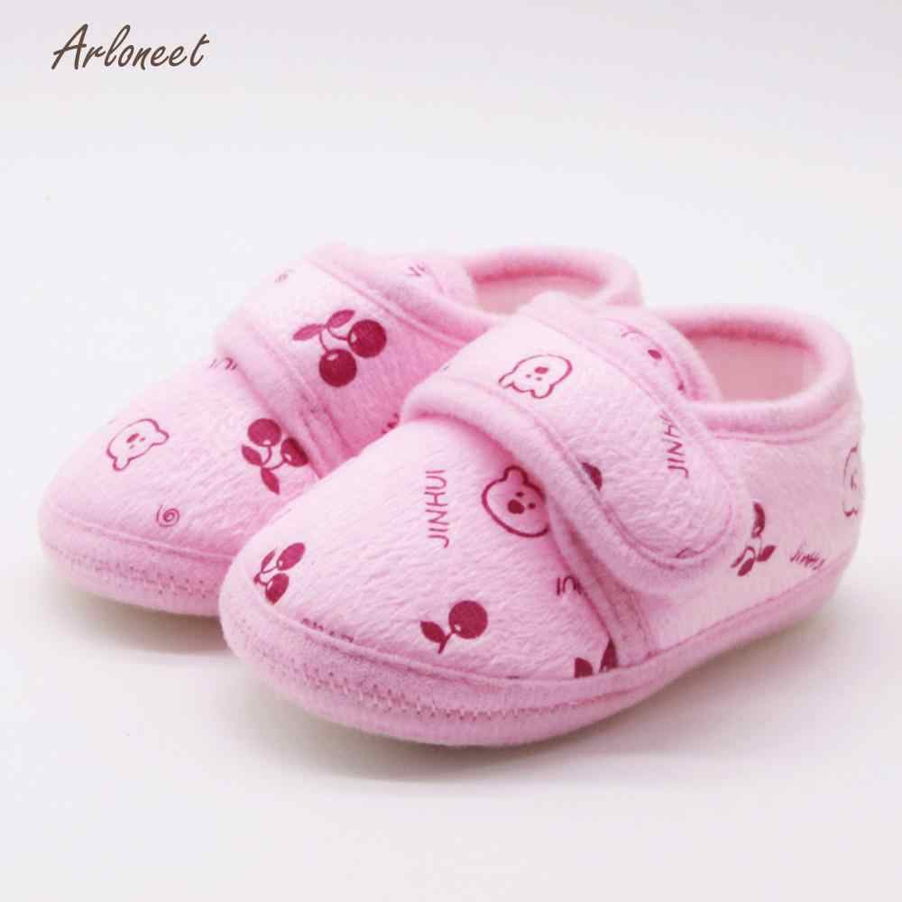 ARLONEET 2018 baby boy shoes fashion baby shoes Solid baby shoes first walker Soft Sole Prewalker Warm Shoes JA5
