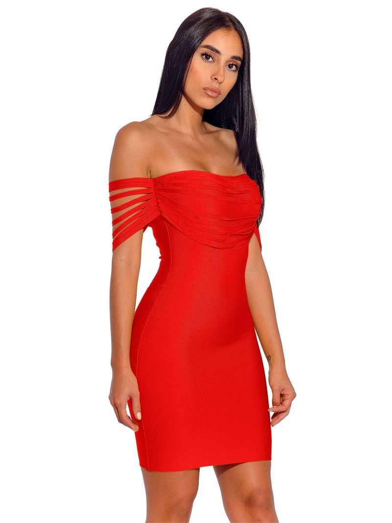 a09ccab00f6f7 Hot Sale New Arrivals Tassel Bandage Dress 2019 Women Sexy Strapless  Shoulder With Fringe Party Bodycon Fashion Nova Dresses